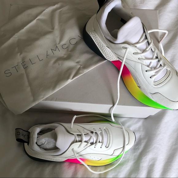 1538c9bce STELLA MCCARTNEY White Eclypse Rainbow sneakers. NWT. Stella McCartney.   600  685. Size. 8